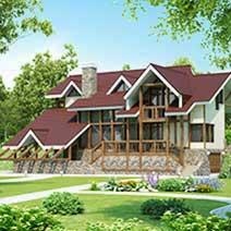 Проекты домов на рельефе, многоуровневых домов и коттеджей