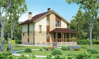 Проект дома 9х9 двухэтажный