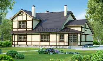 Проект дома с (двумя) 2 гаражами и мансардой G257.