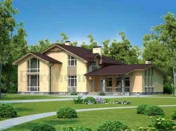 Проект дома с сауной и бассейном