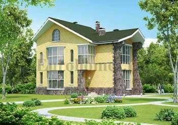 Проект дома с террасой G-327