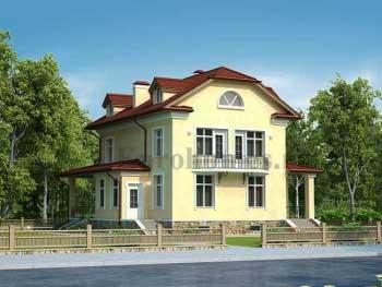 Проект узкого дома, коттеджа для узкого участка  G-298