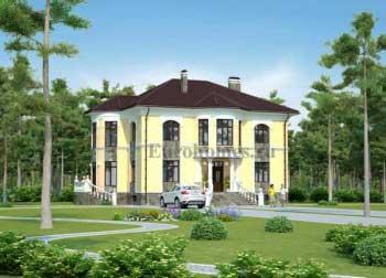 Проекты домов и коттеджей с эркером G-279