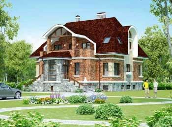 Дом с цокольным этажом, проект G-400