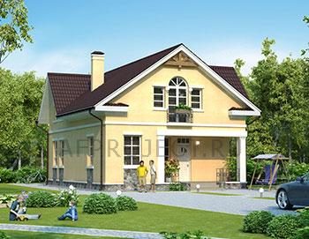 Одноэтажных дом с мансардой G-177