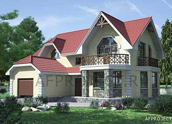 Проекты домов и коттеджей 200 кв.м. с гаражом, мансардой, сауной. GК-200