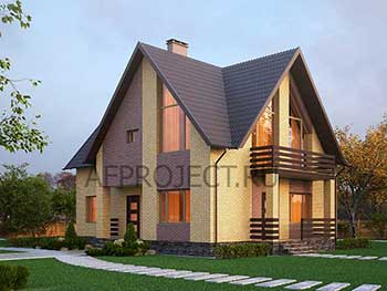 Проект дома из газобетона 10х12 из серии проекты домов до 200 кв. метров с 5 спальнями.