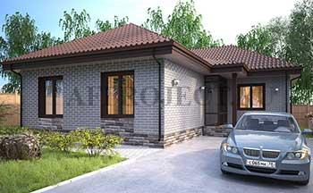 проекты одноэтажных домов 100 120 кв м, с 3 спальнями, эконом класса