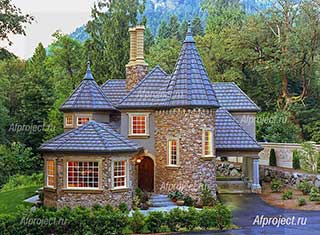 Проект дома в стиле замка Герцог