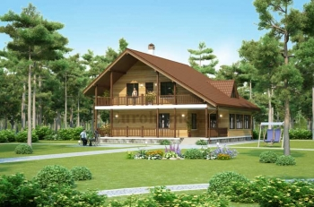 Проект большого дома из бруса