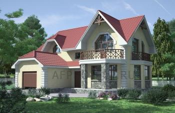 Проект дома с гаражом G-166