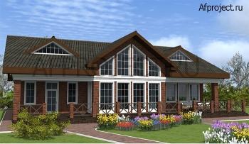 Проект современного дома во вторым светом и большой гостиной G-452