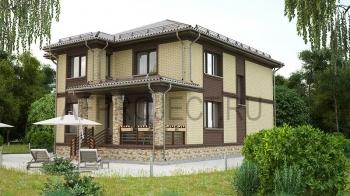 Проекты двухэтажных домов 200 кв.м. с 4 спальнями
