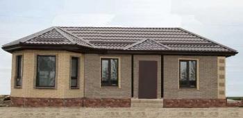 Проект одноэтажного дома 150м2 с 4 спальнями, с 3 спальнями