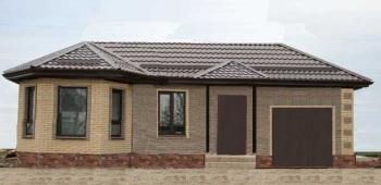 Проект одноэтажного дома 150м2 с гаражом на 1 машину