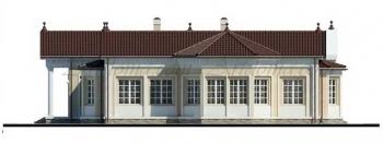 Проект одноэтажного большого дома G-355