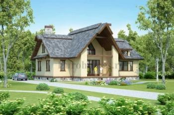 Проект большого дома из клееного бруса