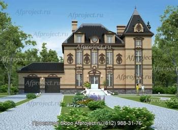 Проект дома в замковом стиле