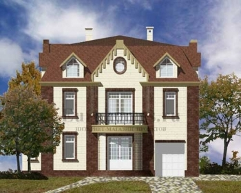 Дом с камином, проект G-347