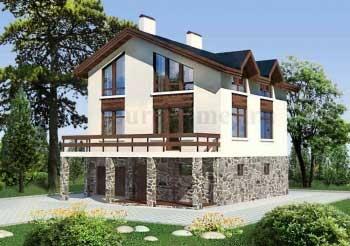 Проект дома 10х10 с гаражом, 10х12,  G-216
