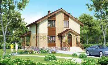 Проект дома 9х9 с мансардой G-143