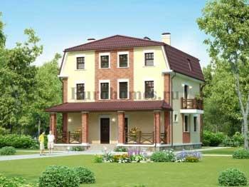 Проект дома на две семьи,  две квартиры G-255