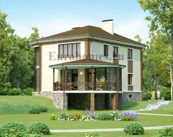 Проект дома на рельефе, на участке с перепадом рельефа.