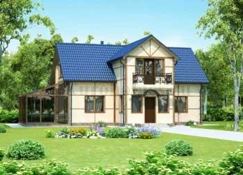 Проект дома с зимним садом G-157