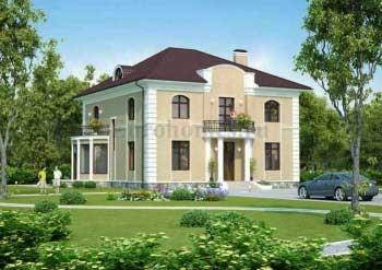 Проект дома с зимним садом G-312