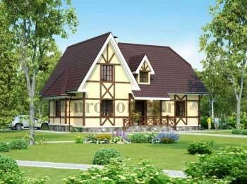 Проект загородного дома с гаражом G-209