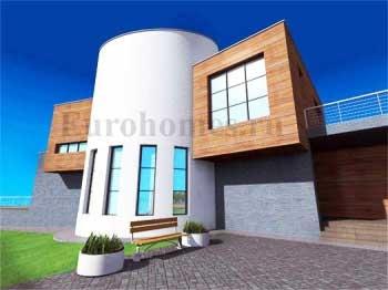 Проект современного европейского дома.