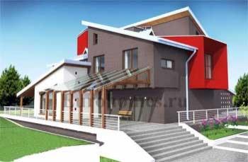 Проект современного загородного дома.