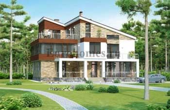 Проекты домов в современном стиле G-417