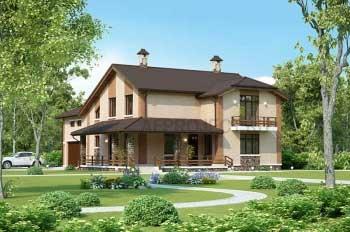 Проекты малоэтажных домов, коттеджей  G-410