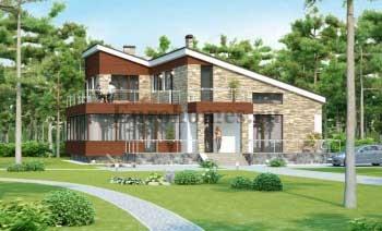 Современные проекты одноэтажных домов G-241