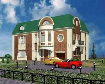 Трехэтажный дом, проект G-358