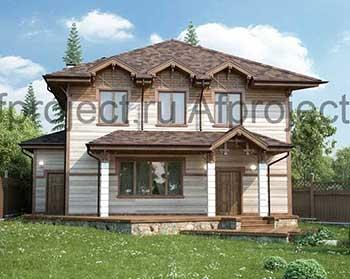 Проект углового дома из бруса с сауной