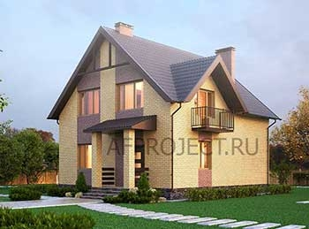 Квадратные проекты домов из газобетона 9х9 с мансардой