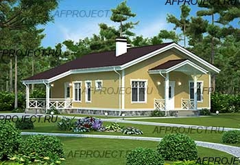 Проекты кирпичных домов до 100 кв м  L-95