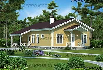 проект дома из пеноблоков 100 кв. м  P-95
