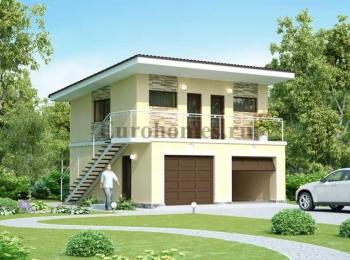 Проект 2-двухэтажного гаража G-79