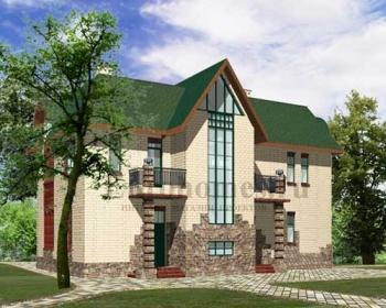 Проект дома с камином G-237