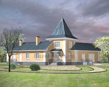 Проект дома по каркасной технологии  D-150