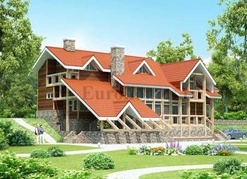 Проект каркасного дома D-233