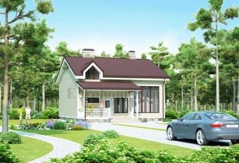 Проект блокированного жилого дома со вторым светом