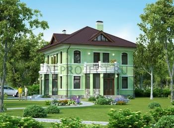 Проект дома с балконом и эркером G-158
