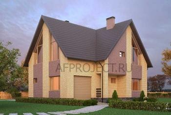Популярный проект дома из газобетона с гаражом