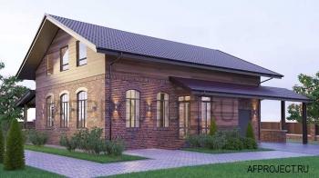 Проекты комбинированных домов со вторым светом и гаражом на 1 машину.