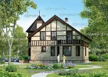 Проекты домов с размерами. 12.5х14.0м G-235