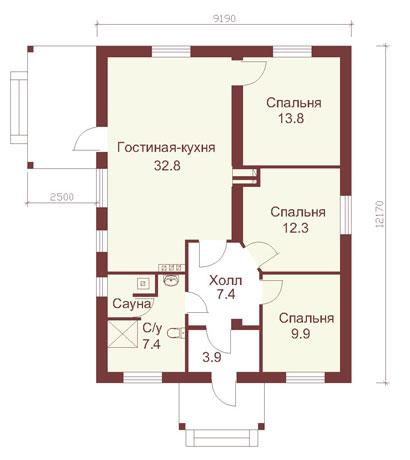 коттеджи 1 этажные фото
